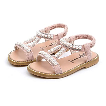 ae00a1a5a361c Amazon.com  Girls Sandals Slipper Flats Shoes Toddler Kids Soft Sole  Bowknot Hook Flats (6 Years Old