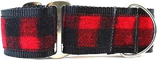 product image for Diva-Dog Martingale Dog Collar - Buffalo Plaid Sierra Red (Medium)