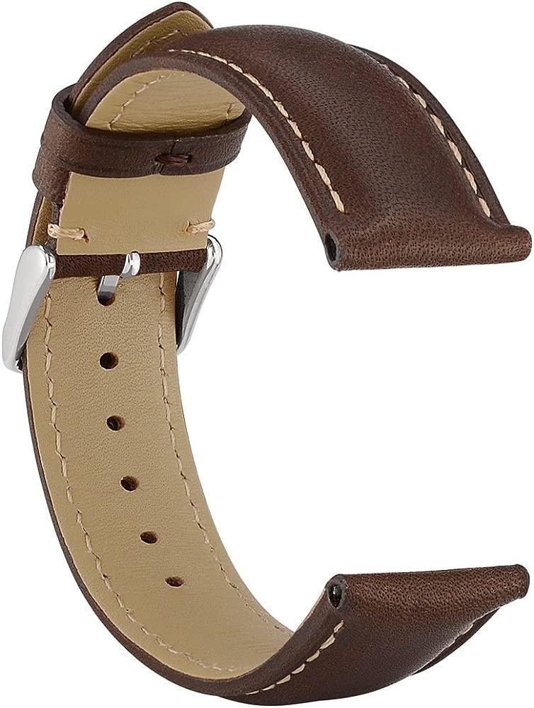 Amazon.com: WOCCI correas para reloj de cuero, vintage ...
