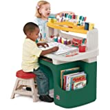 Step2 Art Master Activity Desk for Toddlers - Kids Learning Crafts Table with Chair and Storage - Multicolor