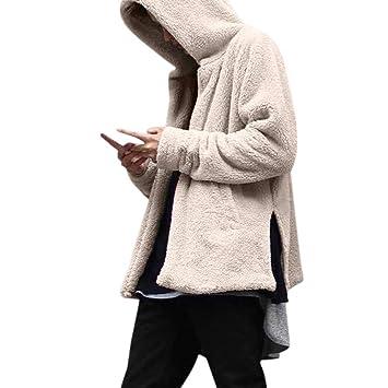 LILICAT Nuevo ~ Moda Hombre Otoño e Invierno Casual Suelta Doble Cara Sudadera Con Capucha Chaqueta Con Capucha Camisa: Amazon.es: Hogar