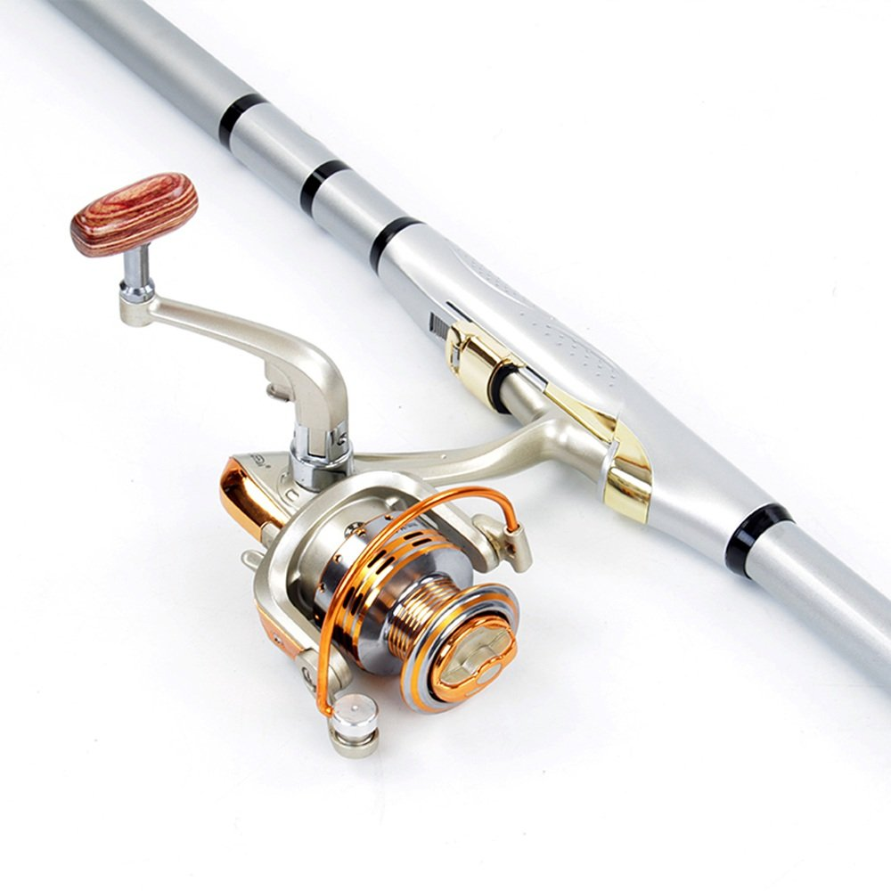 LHA フライロッド 釣り竿とリールを縮小する B07H549M5X 7.2m+12-3000