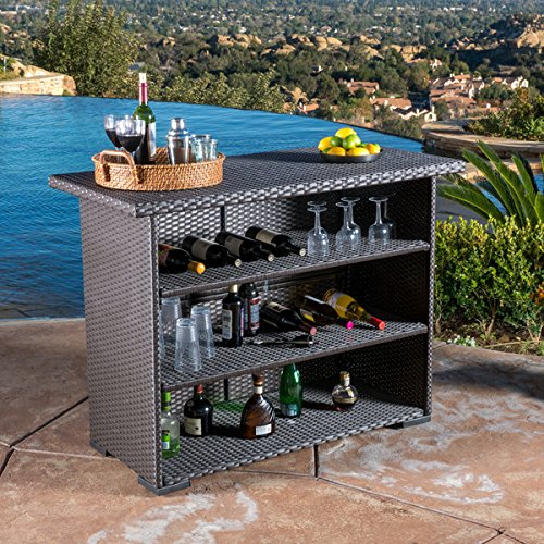 Christopher Knight Home Outdoor Trinidad Wicker Bar Water Resistant by Christopher Knight Home