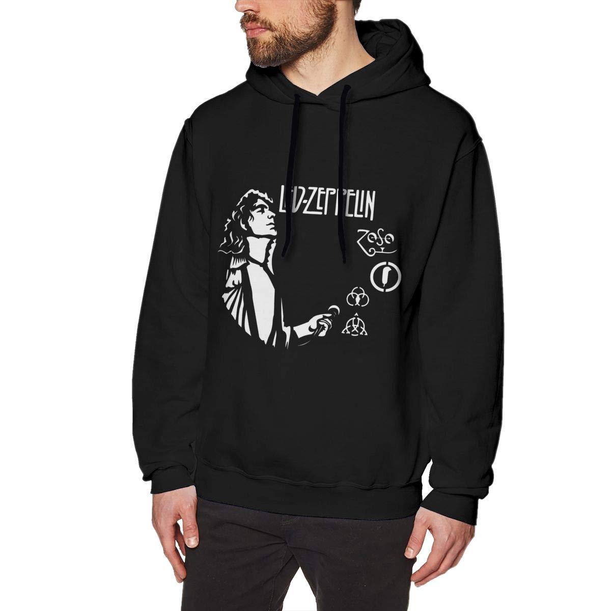 Anegl Masz Led Zeppelin Mens Hooded Sweatshirt Nordic Winter Personality Wild