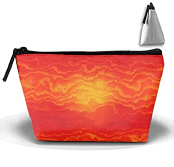 Amazon.com   Abstract Orange Toiletry Bag Makeup Bag Carry on Cosmetic Bag  Travel Storage Pouch   Beauty 39b8e278afd85