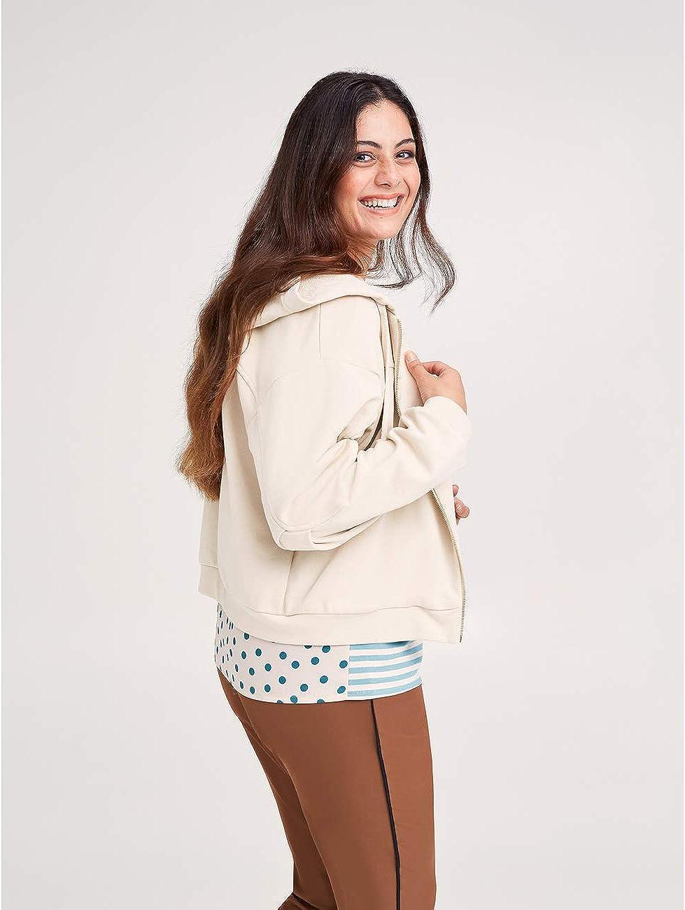 Fiorella Rubino : Sweatshirt mit Kapuze (Italian Plus Size) Beige