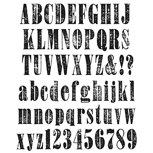 stampers anonymous tim holtz cling rubber stamp set 7 by 8 5 inch worn text office supplies. Black Bedroom Furniture Sets. Home Design Ideas