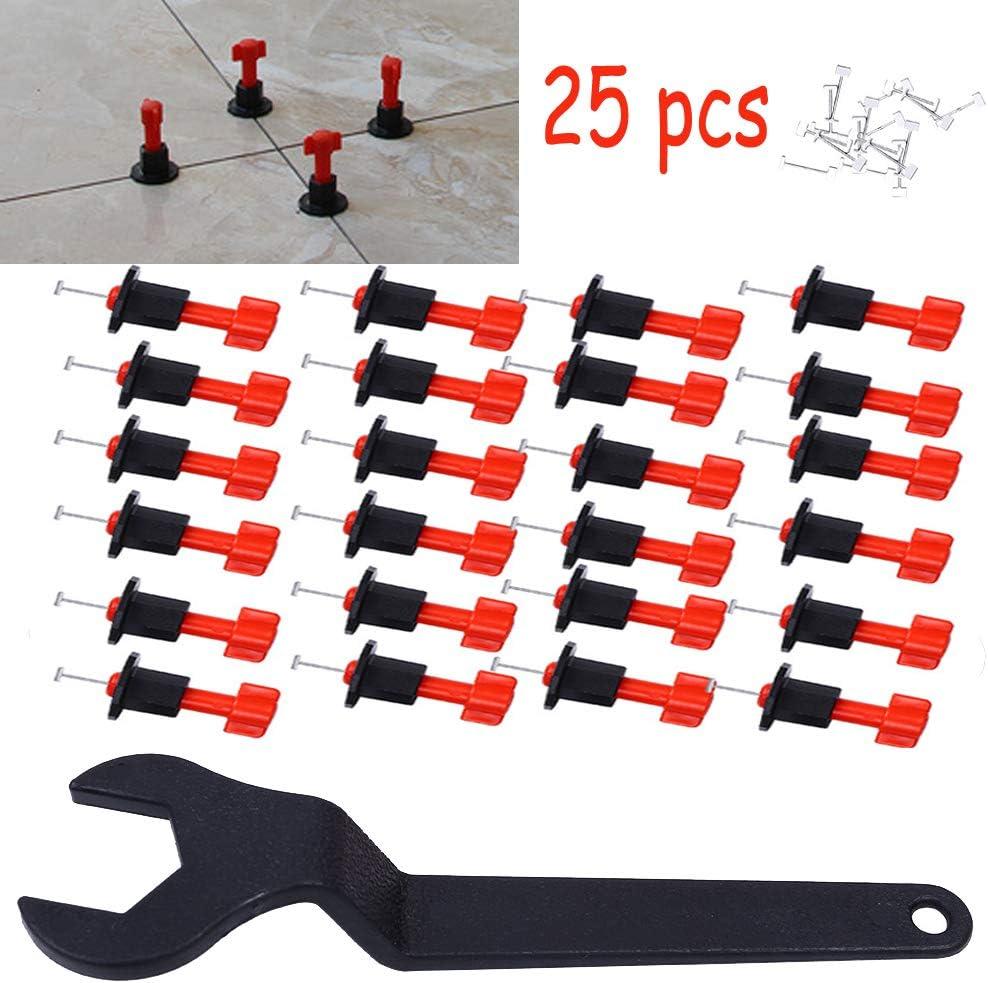 24pcs Tile Leveling System Kits Leveler Tile Spacer Wall Floor Tool Construction