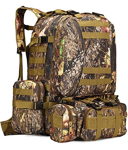 Leaf Tactical Military Pack Howon Maple Rucksacks Outdoor Bag Combat Trekking Backpack Camo Assault 50l u1cFJ3KTl