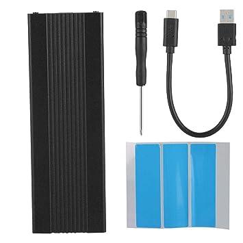 Fishlor Carcasa USB3.1 SSD, USB3.1 a M.2 NVME Disco Duro Caja SSD ...