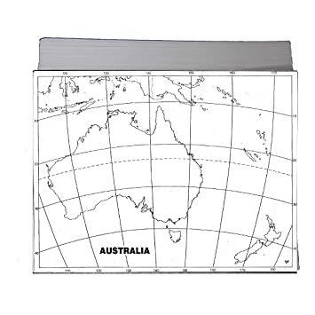 CRAFTWAFT BLANK PHYSICAL MAP OF AUSTRALIA FOR MAP POINTING ...