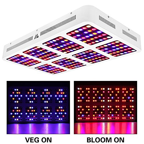 LED Grow Light 2400W Dimmable Full Spectrum for Indoor Plants with Veg and Bloom Switch