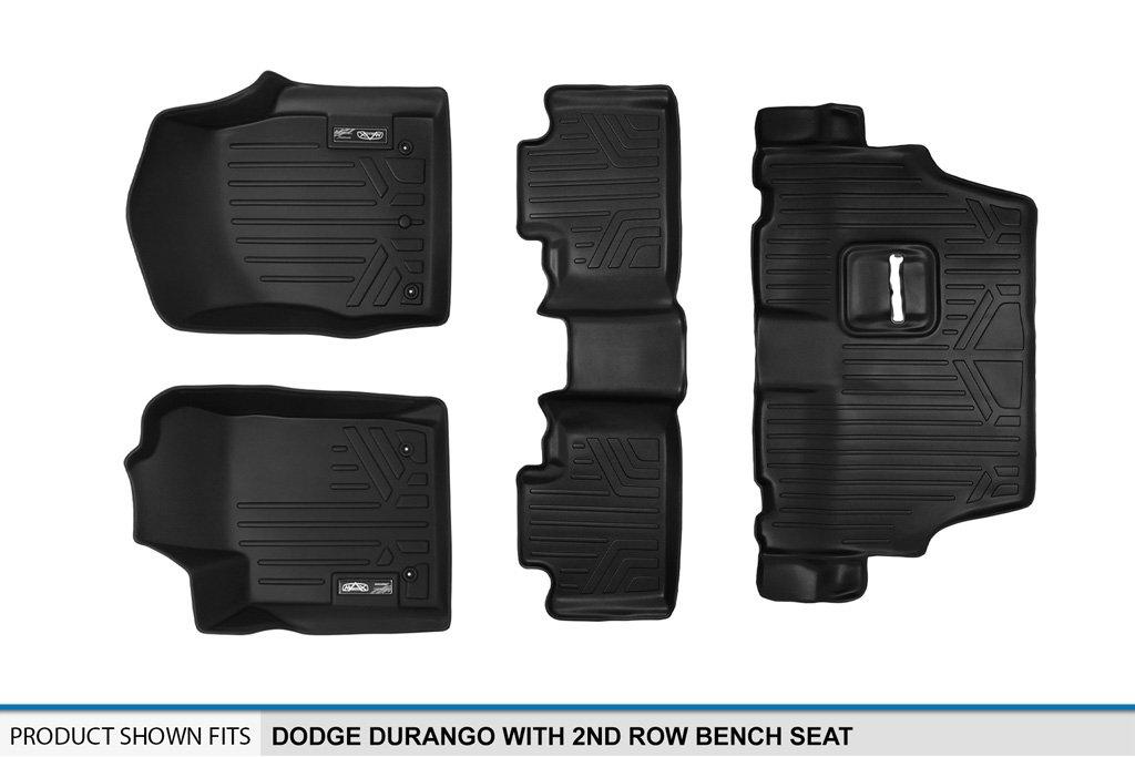 MAXLINER Custom Fit Floor Mat for Select Dodge Durango Models Black 2nd Row Bench Seat, 3 Row