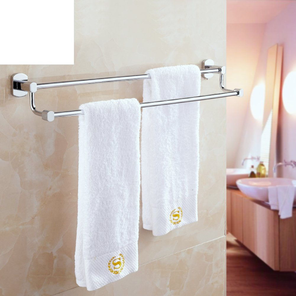 Brass double bar towel rack towel shelf toilet bathroom for Rack for bathroom accessories