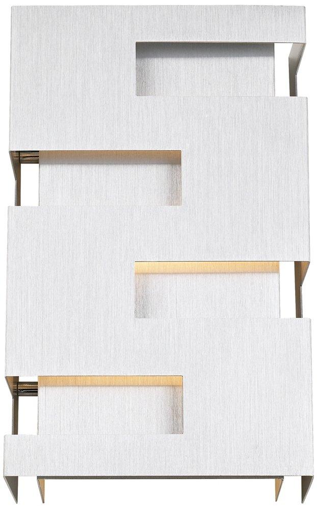 Possini Euro Cutout 10'' High Brushed Aluminum Wall Sconce