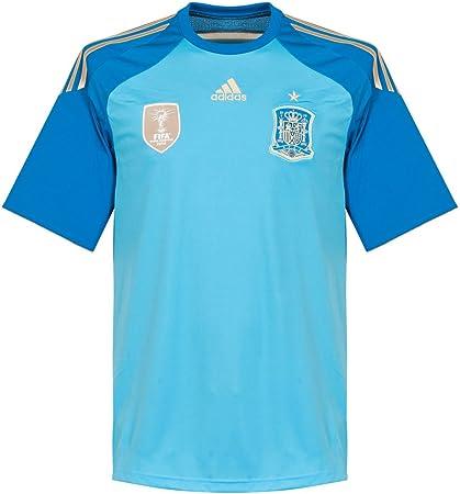 adidas Camiseta Portero Seleccion 2014 Azul: Amazon.es: Deportes y aire libre
