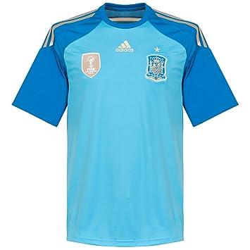 adidas Camiseta Portero Seleccion 2014 Azul Talla XL: Amazon.es: Deportes y aire libre