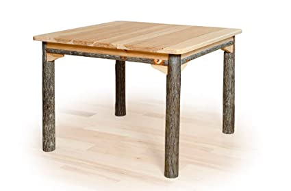 Solid Top Rustic Hickory Dining Table  42u0026quot; ...