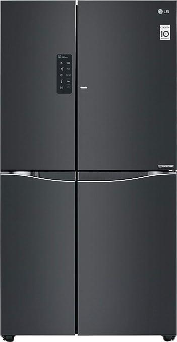 LG 675 L Frost Free Side by Side Refrigerator GC M247UGLB.ALBQEBN, Luminous Black, Inverter Compressor