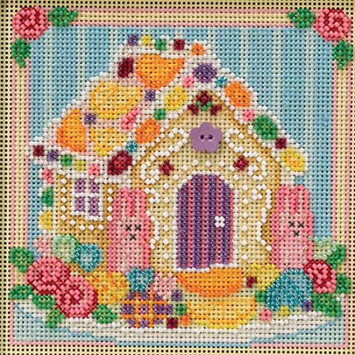 Sugar Cookie House Beaded Counted Cross Stitch Kit Mill Hill 2019 Buttons & Beads Spring ()