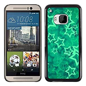 Planetar® ( Stars Vortex Mint Mystical Abstract ) HTC One M9 Fundas Cover Cubre Hard Case Cover