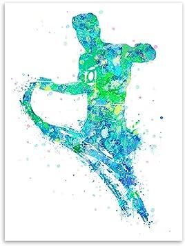 baodanla (sin Marco) póster de Pintura de Acuarela de Arte Ligero 8 núcleo de Pintura 50 * 70 cm: Amazon.es: Hogar