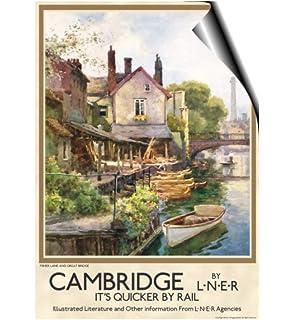 Vintage British Rail Cambridge Kings College Railway Poster A3//A4 Print