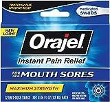 Orajel Mouth Sore Swabs, 12 Count