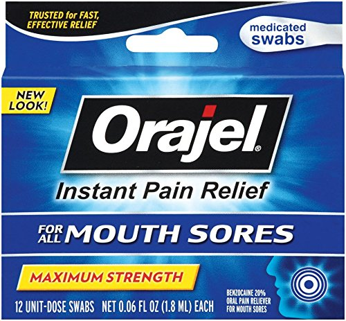Swabs Sore (Orajel Mouth Sore Swabs, 12 Count)