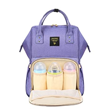 9c635897215d Amazon.com   SUNVENO Diaper Bag Backpack Maternity Nappy Changing Backpack  Large Waterproof Insulated Mommy Bag Travel Backpack Nursing Bag for Baby  Care ...