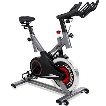 JOROTO Indoor Exercise Bikes Stationary – Spin Cycling Bike with Belt Drive and Magnetic Resistance 300 lb Weight Capacity for Home Gym Spinning Workout Model XM30