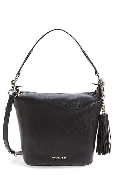 4cd8c1f06c6a Michael Kors Medium Elana Convertible Leather Shoulder Bag - Black -  30T6SE3L2L-001