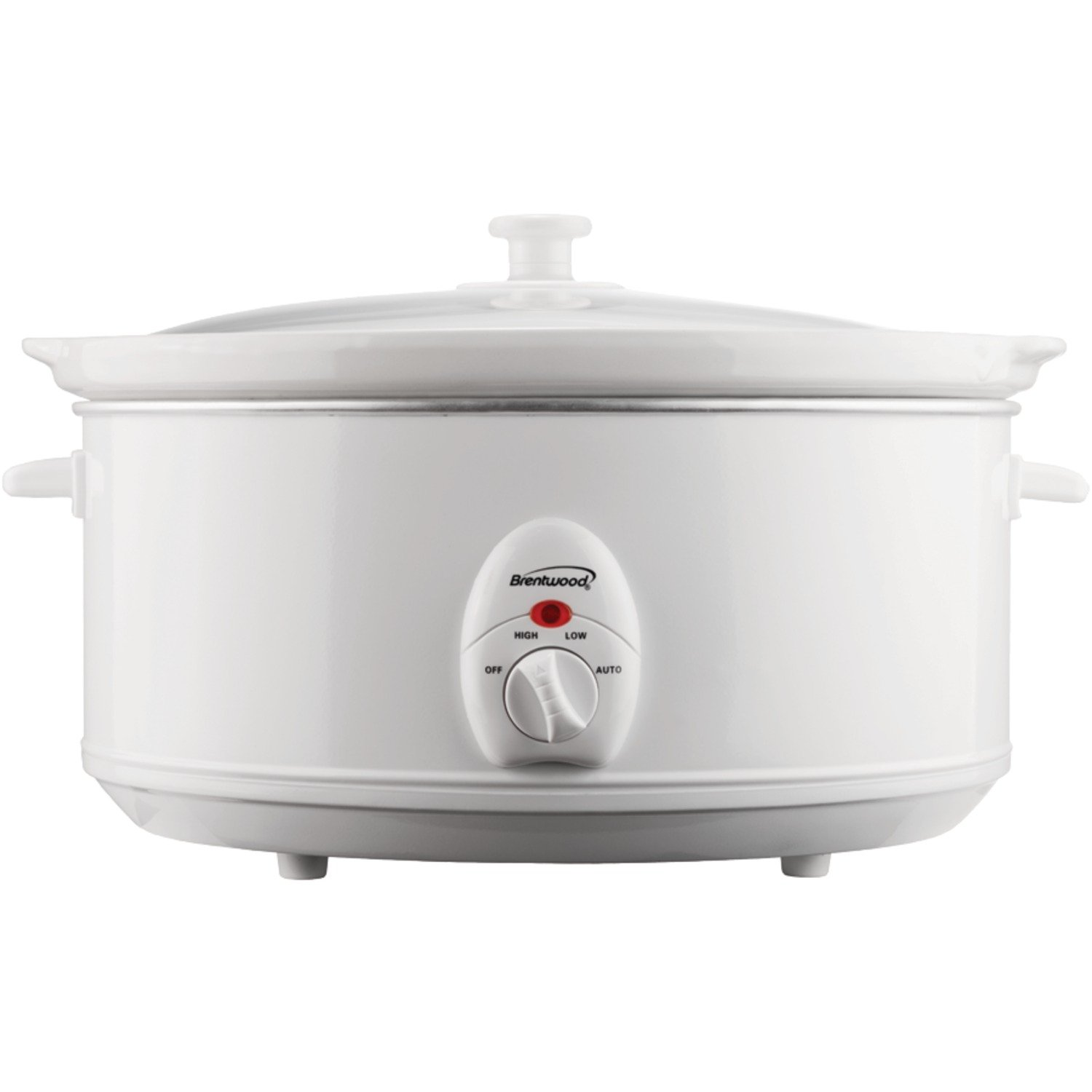 Brentwood Appliances SC-145W 6.5-Quart Slow Cooker, White
