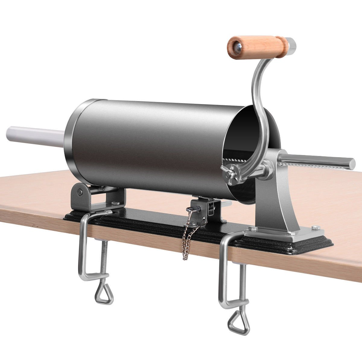 Goplus Horizontal Stainless Steel Sausage Stuffer Maker Meat Filler Kit Commercial (3.6L)