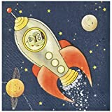 Ginger Ray Space Adventure Party Spaceship Paper Kids Napkins, Mixed