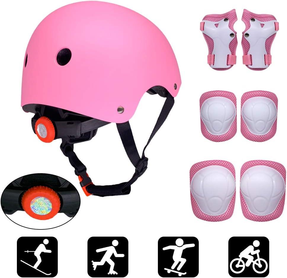 HMADAI Casco Infantil Protecciones Patines Ni/ña Rodilleras y Cascos Ajustable Coderas para Patinar Bicicleta Monopat/ín
