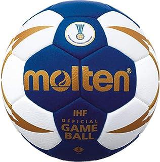 Boje Sport Top Pallone per competizioni Ufficiale IHF, Pelle Sintetica Molto Morbida - Colore: Blu/Bianco/Oro, Misura: 3