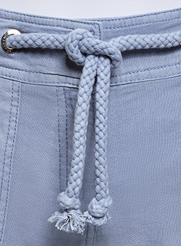 Cinta Occhielli Pantaloncini Donna Blu 7500w Collection Lino Con In Oodji S0YwqEW