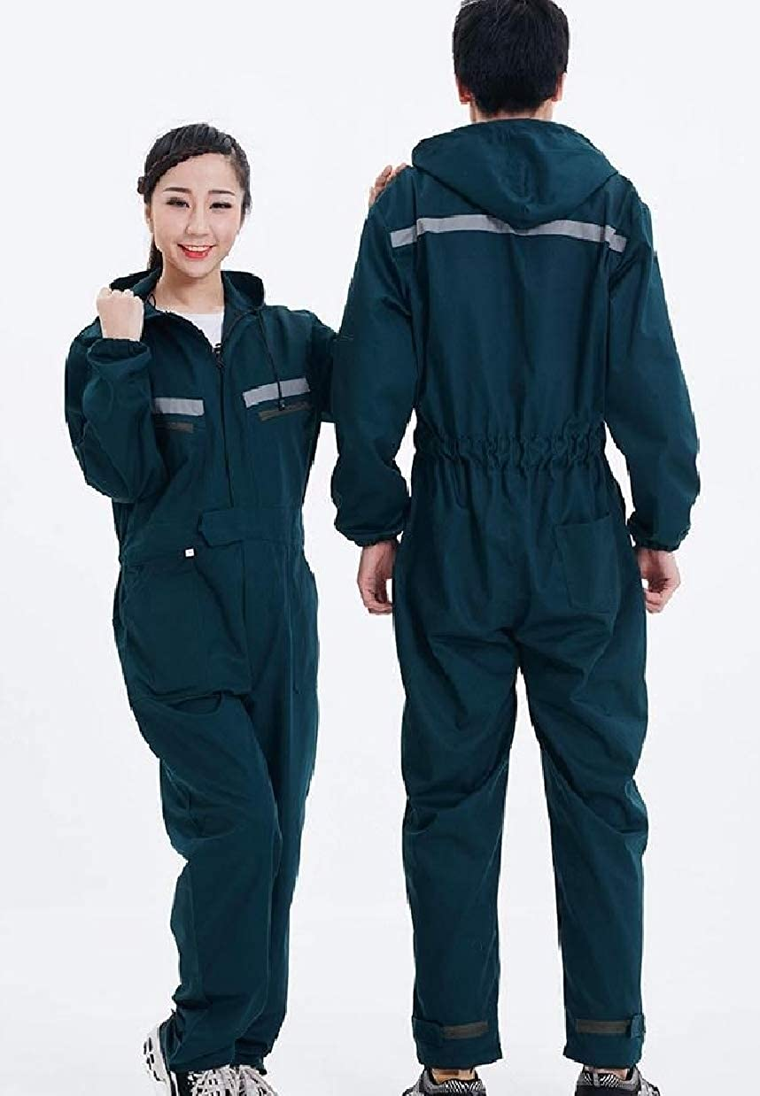 SportsX Mens Uniforms Cotton Reflective Plus-Size Overalls Coveralls