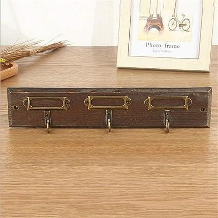 Colgador de madera para llaves, llavero de madera, gancho ...