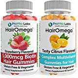 Dr. Formulas Hairomega Hair Skin and Nails Gummies - No Bears Included - Made with Sugar not Corn Syrup