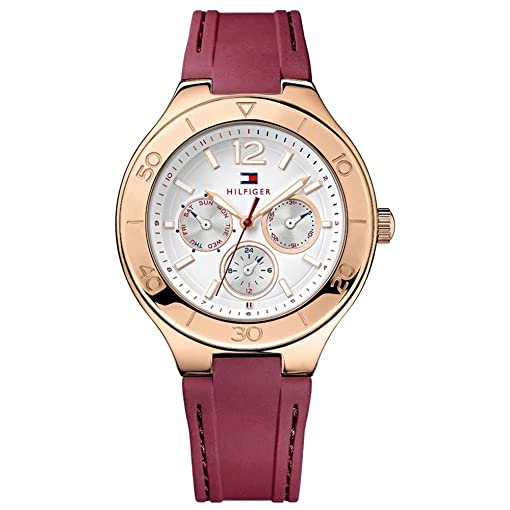 Tommy Hilfiger Classic Multifunction Silicone - Burgundy Womens watch #1781331