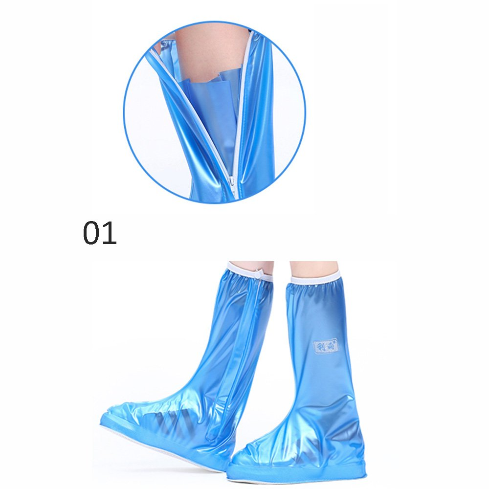 Botte Pluie Imperméable qz Housse de Chaussure antidérapante Rain Boots Travel Anti-Skid Bottom Men and Women
