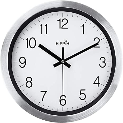 Amazon Com Silent Wall Clock 12 Inch Battery Operated Non Ticking Large Decorative Quiet Clock For Kitchen Home Office Wall Decor Modern Battery Wall Clock For School Bathroom Living Room Easy To Read Kitchen