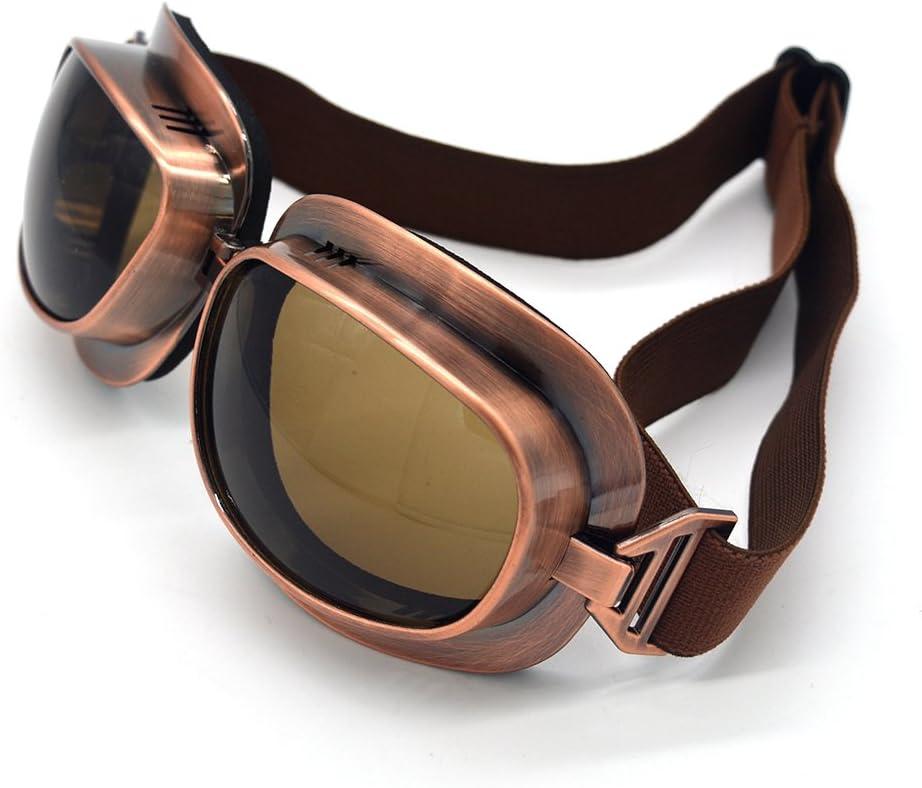 evomosa Motorradbrille Retro Vintage Motocross Offroad ATV Pilotenbrille Sportbrille Snowboard Skibikes Helm Brille