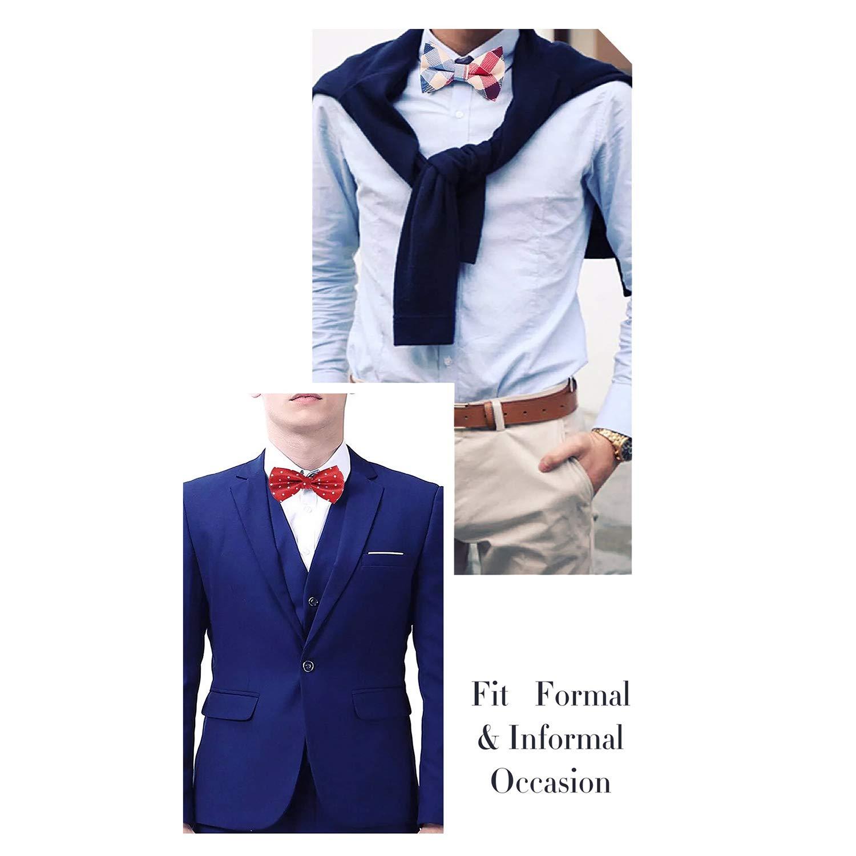 Tuxedo Bowtie,ValentineS Patterns,Men Classic Pre-Tied Satin Tie