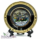Nazareth Annunciation Display Ceramic Décor Plate Wall Hanging With Stand Holy Land 4.3''