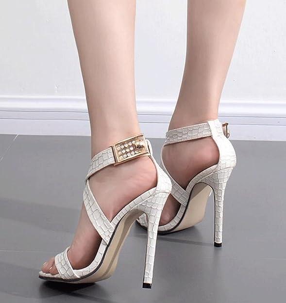 Zapatos Sexy Serpentina Tacón América Europa Jazs® Y De Alto Cruz X1qPn