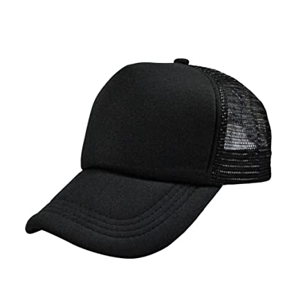 f631066b6c6 Amazon.com   Soly Tech Unisex Men Women Casual Hat Solid Baseball Cap  Trucker Mesh Blank Visor Adjustable Hats   Sports   Outdoors