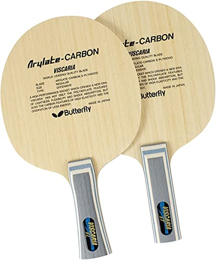 Ping Pong Racket,Paddle Made in Japan Butterfly Viscaria FL Blade Table Tennis